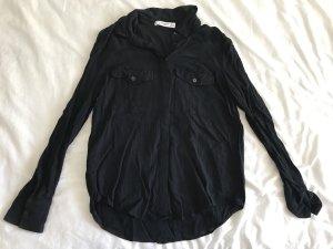 Mango Blusa-camisa azul oscuro