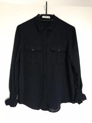 Mango Shirt Blouse dark blue