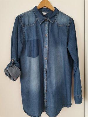 Denim Blouse dark blue cotton