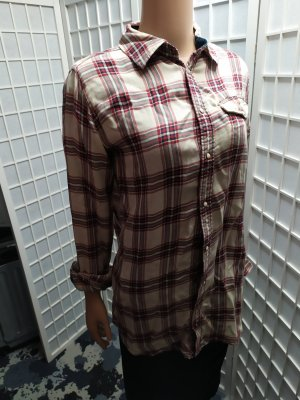 Hemdbluse Hemd kariert G-Star Baumwolle pur S / M oversized Langbluse