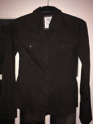 Esprit Camicia a maniche lunghe marrone-nero Cotone