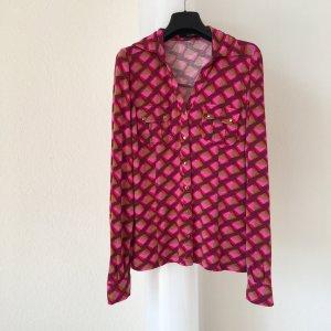 Hemdbluse in Pink- und Rottönen von Hallhuber