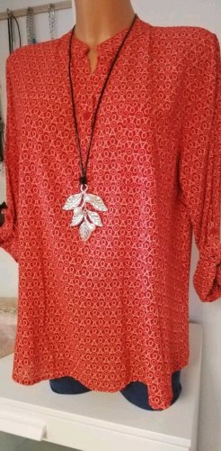 Made in Italy Blouse longue rouge