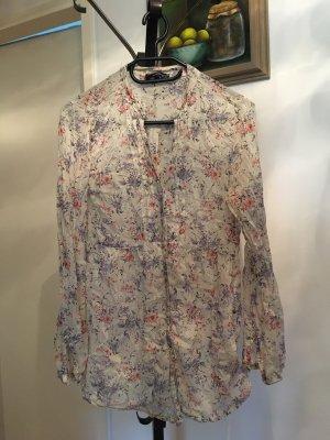 Hemdbluse, leicht, floral, romantisch, Baumwolle/Seide
