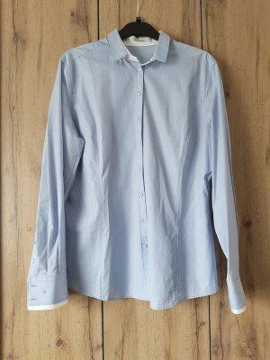 van Laack Shirt Blouse white-azure cotton