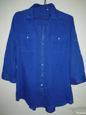 Esprit Blouse en lin bleu lin