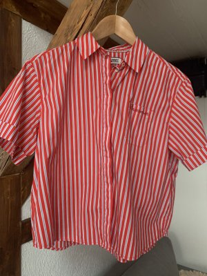 Tommy Jeans Short Sleeve Shirt red cotton