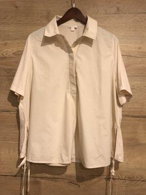 COS Koszulowa bluzka stary róż-jasnobeżowy