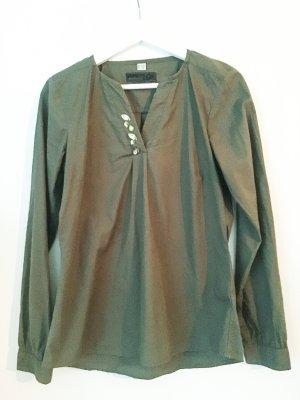 Hemdbluse von Esmara wie neu - khaki mit Steinchen - Gr. 36-38