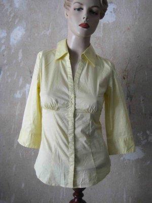 Hemdbluse von H&M, gelb mit weißen Streifen - business Look
