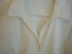 Yessica Blouse-chemisier blanc tissu mixte
