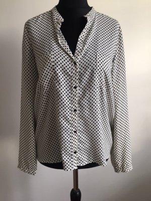 Zara Camicia blusa bianco-nero Viscosa