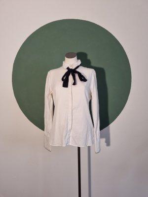 Yaya Shirt Blouse white-dark blue