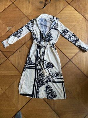 Robe chemise noir-blanc
