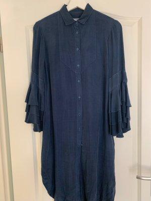 European Culture Shirtwaist dress dark blue