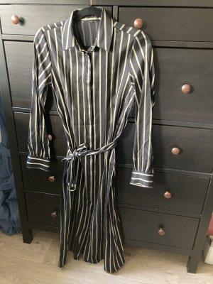 H&M Shirtwaist dress black-gold-colored