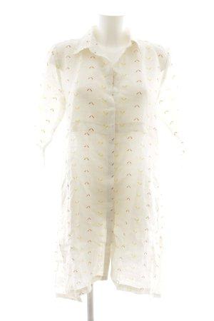 Hemdblusenkleid abstraktes Muster Street-Fashion-Look
