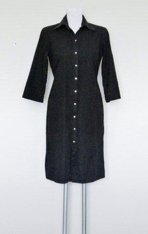 Promod Robe chemise noir-gris anthracite