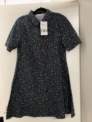 Hemdblusenkleid Blume Vintage Zara neu
