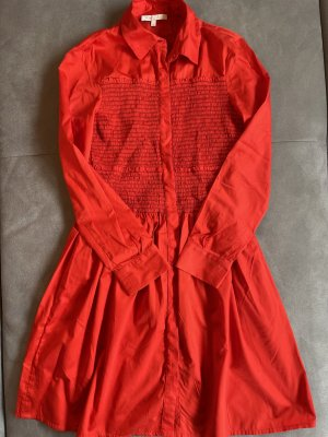 Maje Shirtwaist dress red-brick red cotton