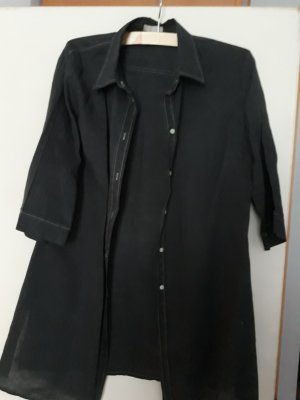 Marco Pecci Shirtwaist dress dark blue linen