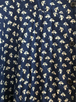 Shirtwaist dress cream-dark blue