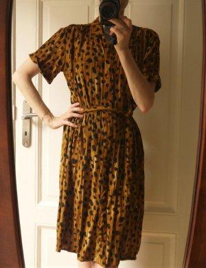 Fabienne Chapot Hemdblousejurk oranje-zwart Viscose