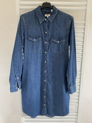 Levi's Abito blusa camicia blu acciaio