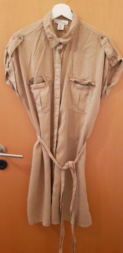 H&M Vestido tipo blusón beige-camel
