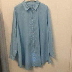 Hemdblusenkleid hellblau A-Linie