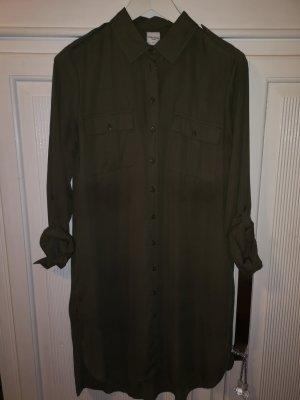 PIAZA ITALIA Shirtwaist dress khaki polyester