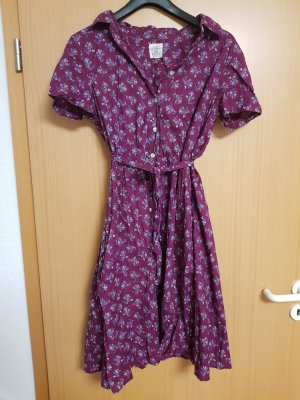 Hemdblusenkleid mit Blümchenmuster