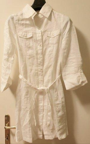 Bandolera Blouse Dress white