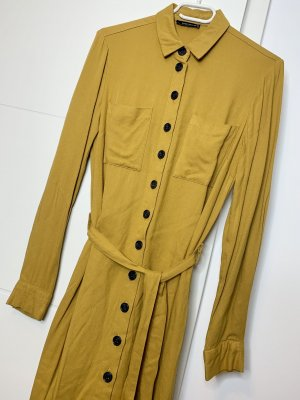 Reserved Robe chemise jaune-orange doré