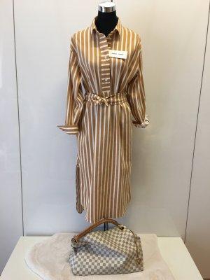 Samsøe & samsøe Robe chemise blanc cassé-bronze