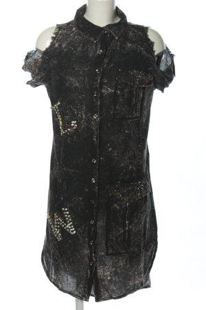 Hemdblusenkleid schwarz Casual-Look