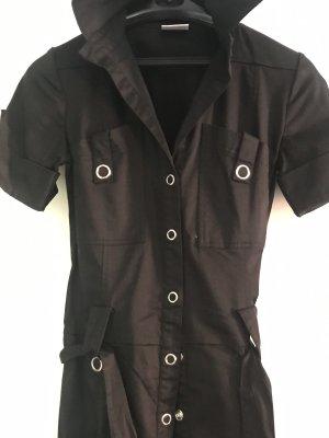 Hemdblusenkleid schwarz Gr. 34