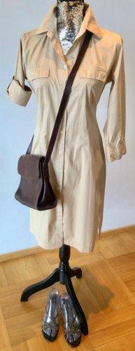 0039 Italy Abito blusa camicia beige chiaro Cotone