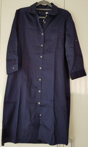 0039 Italy Abito blusa camicia blu scuro Cotone