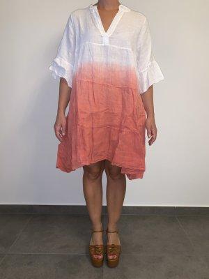 Hemdblusenkleid von Carolina Cavour Gr M rotweiss