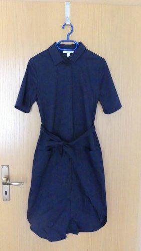 Esprit Vestido tipo blusón azul-azul oscuro Algodón