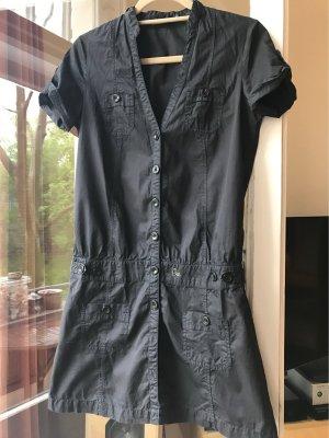 Gas Vestido camisero gris antracita