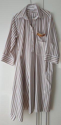 Le Sarte Pettegole Abito blusa camicia bianco-beige Cotone