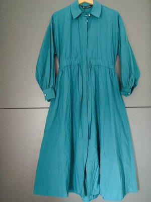 Zara Vestido tipo blusón verde bosque-petróleo