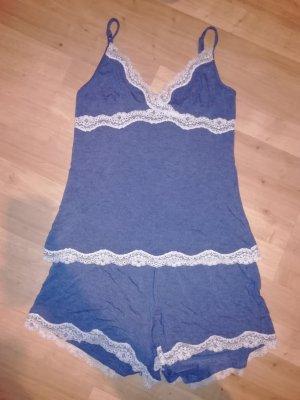 Anna Field Shorts grigio ardesia-blu acciaio
