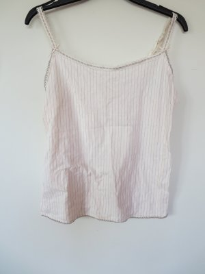 Hemdchen Unterhemd Streifen rosa-grau