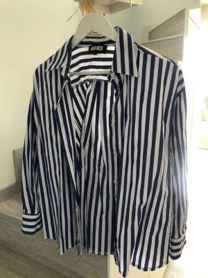 Camicia hawaiana bianco-blu neon