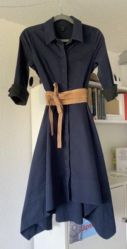 COS T-shirt jurk donkerblauw-zwart Katoen