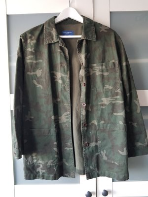 Pull & Bear Military Jacket multicolored cotton