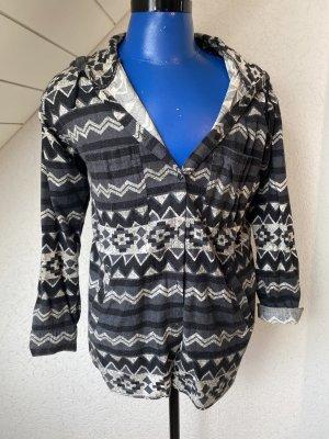 H&M Chemise de bûcheron noir-gris